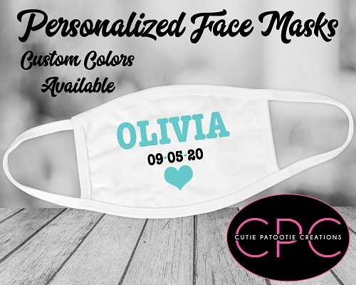 Personalized Bat Mitzvah Face Mask - Choose Your Colors
