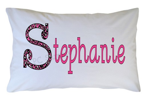Personalized Monogram Initial Pillow Case for Kids, Adults and Toddler