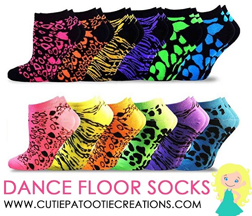 Dance Floor Party Socks for Bar and Bat Mitzvahs - Animal Prints