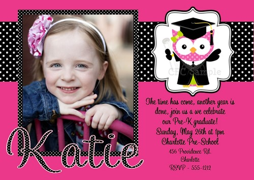 Preschool Kindergarden Graduation Invitation