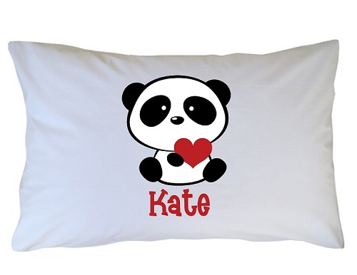 Personalized Panda Bear Pillow Case for Kids, Adults and Toddler