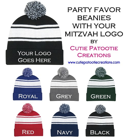 Personalized Knit Pom Beanie Hat - MINIMUM 48