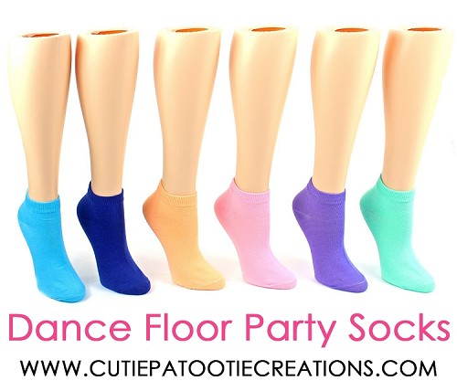 Dance Floor Party Socks for Bar and Bat Mitzvahs - Pastel Colors