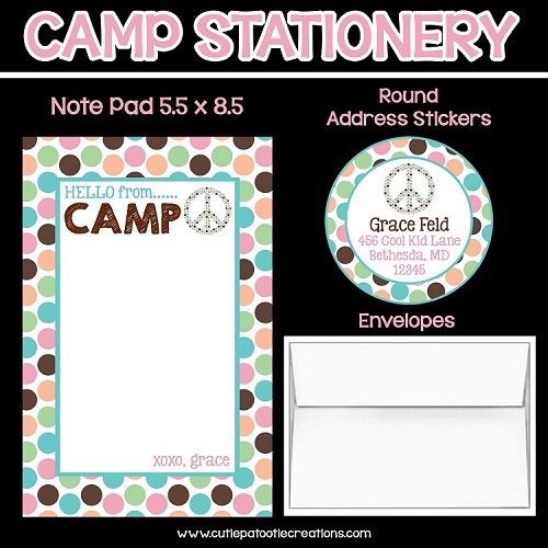 Polka Dot Personalized Custom Notepads, Stationery, Stickers