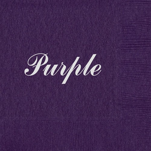 Personalized Purple Napkins - Beverage, Cocktail, Dinner & Guest Towels
