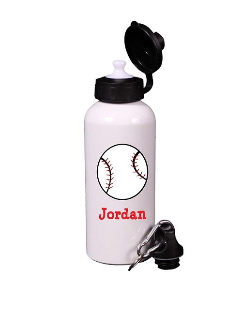 Personalized Baseball Water Bottle