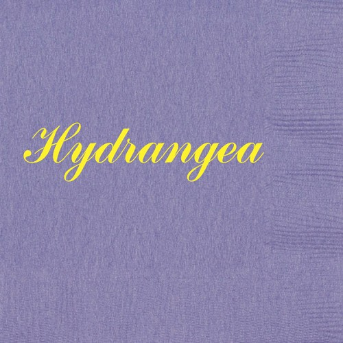 Personalized Hydrangea Napkins - Beverage, Cocktail, Dinner & Guest Towels