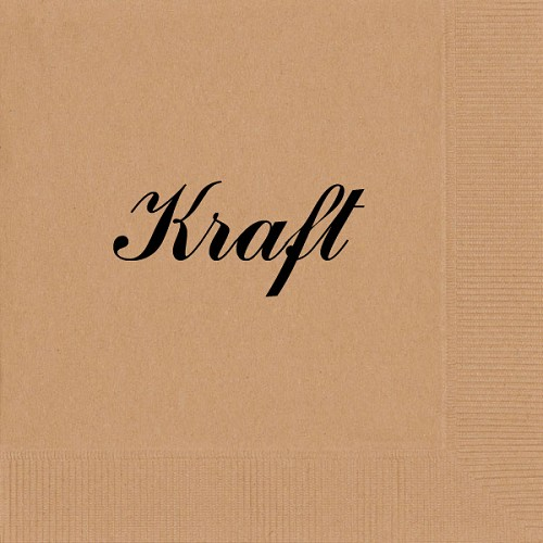 Personalized Kraft Napkins - Beverage, Cocktail, Dinner & Guest Towels