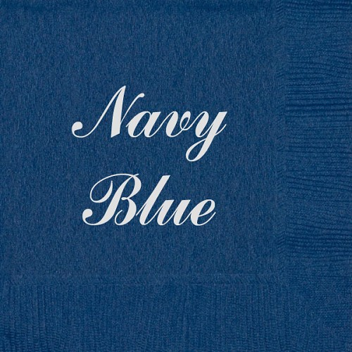 Personalized Navy Blue Napkins - Beverage, Cocktail, Dinner & Guest Towels