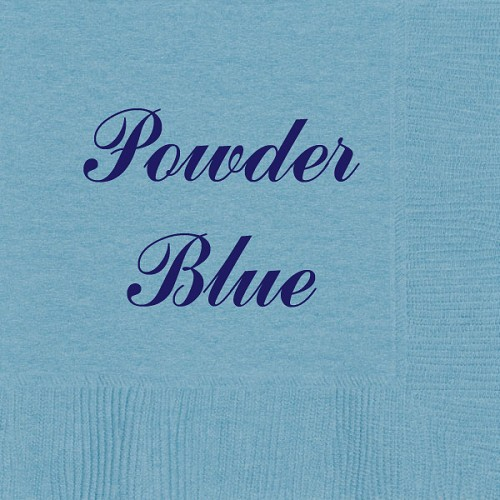 Personalized Powder Blue Napkins - Beverage, Cocktail, Dinner & Guest Towels
