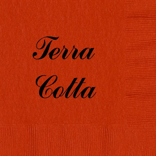 Personalized Terra Cotta Napkins - Beverage, Cocktail, Dinner & Guest Towels
