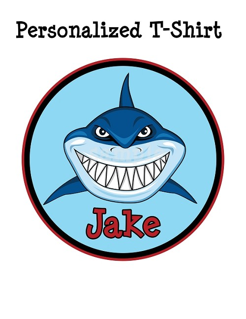 Personalized Shark Jaws T-Shirt or Onesie