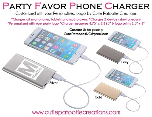 Power Bank Phone Charger Mitzvah Party Favors - MINIMUM 50