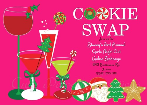 Ornament Cookie Exchange Holiday Party Invitation - Printable or Printed