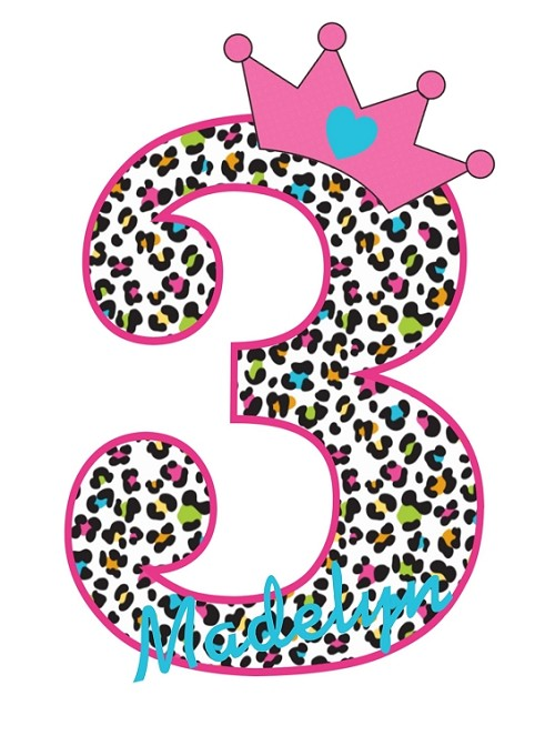 Personalized Leopard Cheetah Print Birthday T-Shirt or Bodysuit