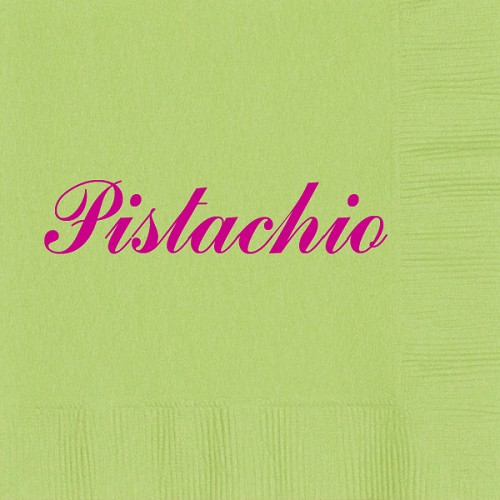 Personalized Pistachio Napkins - Beverage, Cocktail, Dinner & Guest Towels
