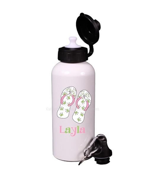 Princess Crown Flip Flops Aluminum Water Bottle