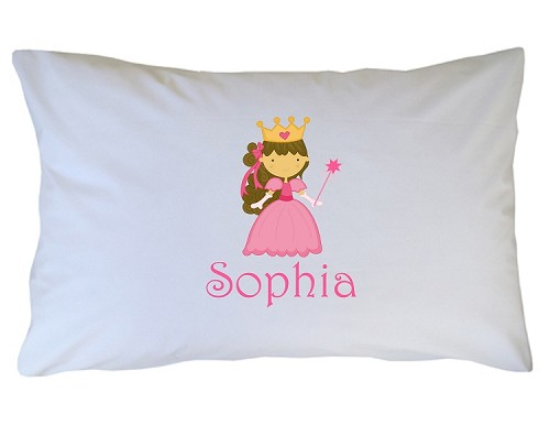 Personalized Pink Princess Pillow Case for Kids, Adults and Toddler