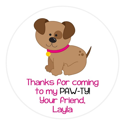 Personalized Puppy Dog Stickers - Gift Stickers - Address Labels