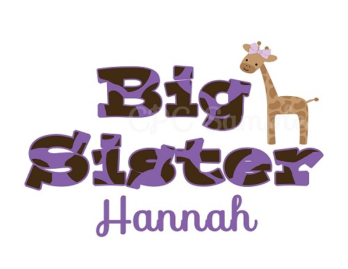 Personalized Big Little Sister Shirts