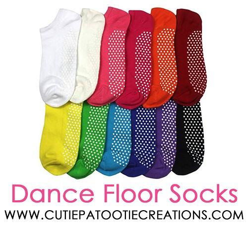 Dance Floor Party Socks -  Grippy Grip Mitzvah Socks - Rainbow Colors - NON Personalized