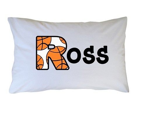 Personalized Basketball Pillow Case for Kids, Adults and Toddler