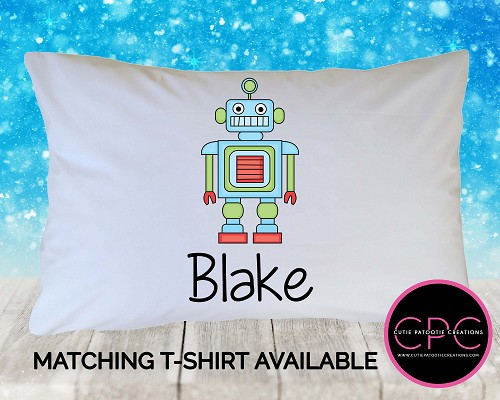 Personalized Robot Pillowcase