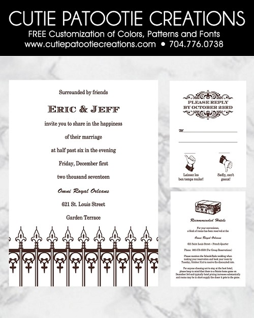 Same Sex Marriage Wedding Invitations - Destination Travel Theme