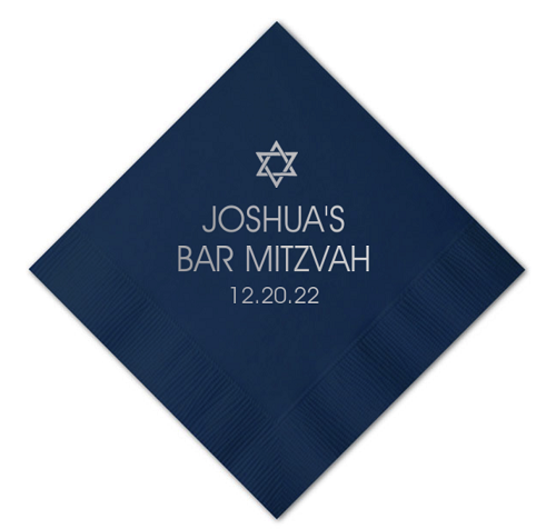 Personalized Hockey Theme Napkins for Bar and Bat Mitzvahs - ANY SPORT AVAILABLE