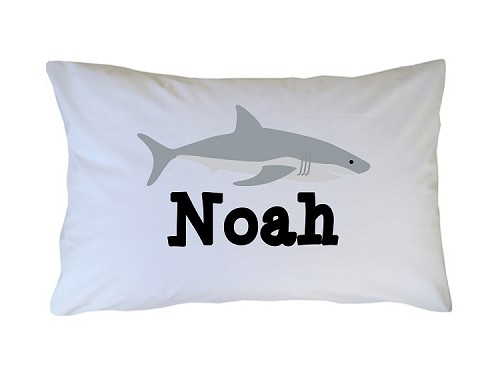 Personalized Shark Jaws Pillow Case for Kids, Adults and Toddler