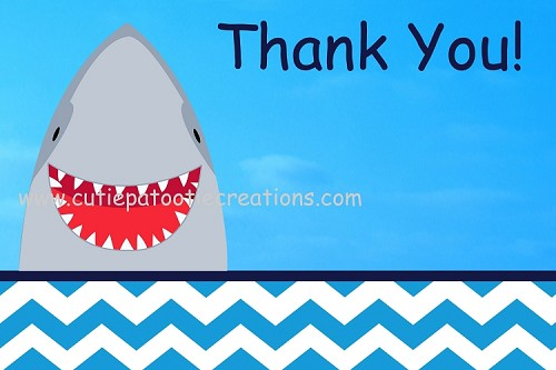 Shark Thank You Note Cards