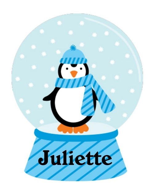 Personalized Christmas Penguin Snowglobe TShirt or Onesie | Baby Clothes