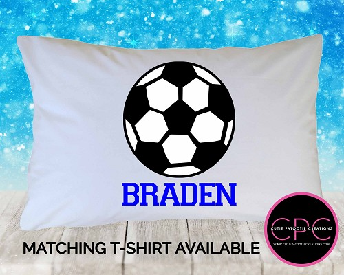 Personalized Soccer Ball Pillowcase