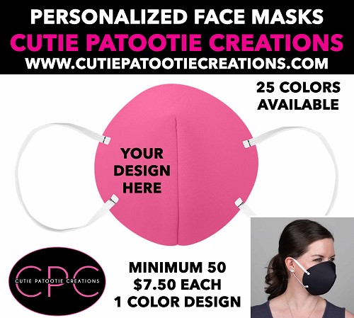 Custom Personalized Face Masks with or without your Logo
