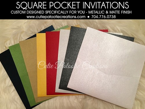 SQUARE POCKET INVITATIONS - See Description for Details - CALL FOR PRICING