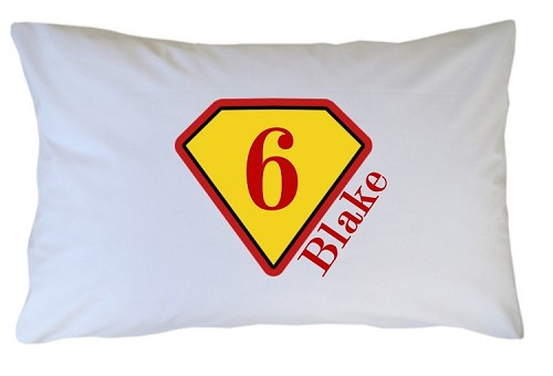 Personalized Supehero Badge Pillow Case for Kids, Adults and Toddler