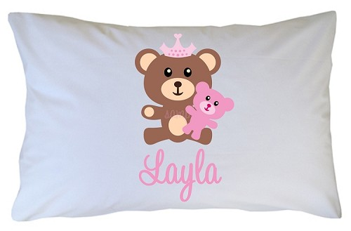 Personalized Teddybear Pillow Case for Kids, Adults and Toddler