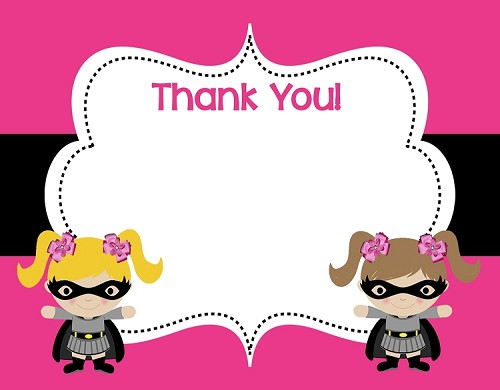 Batgirl Thank You Note Cards - Superhero