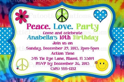 Tie Dye Party Invitations Et83 Advancedmassagebysara