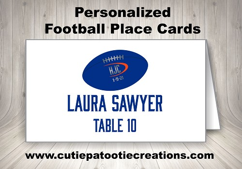 College Football Personalized Place Cards
