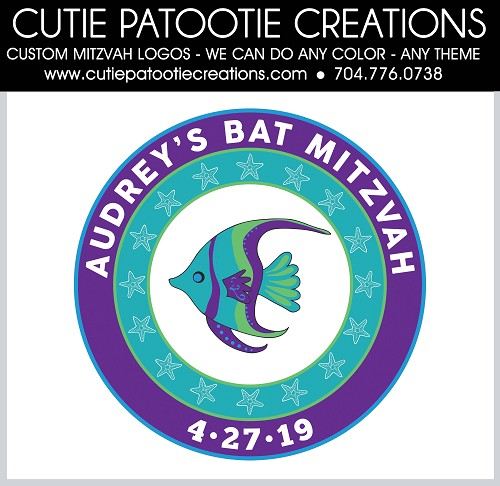 Under the Sea Mitzvah Logo - Custom Colors Available