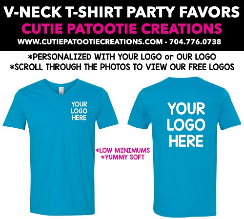 V-Neck T-Shirt Mitzvah Party Favors - See Description for More Info