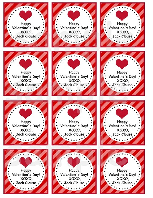 Printable Happy Valentines Day Gift Tags