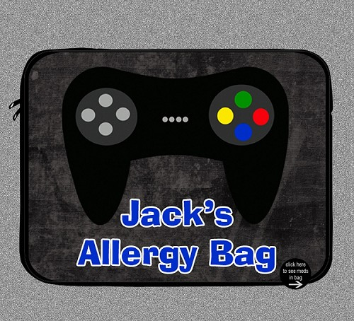 Personalized Video Games Allergy Medicine Bag - EpiPen, Auvi-Q