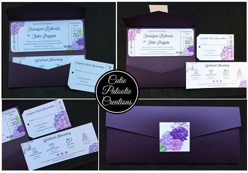 Boarding Pass Wedding Invitations - Destination Wedding Invitations