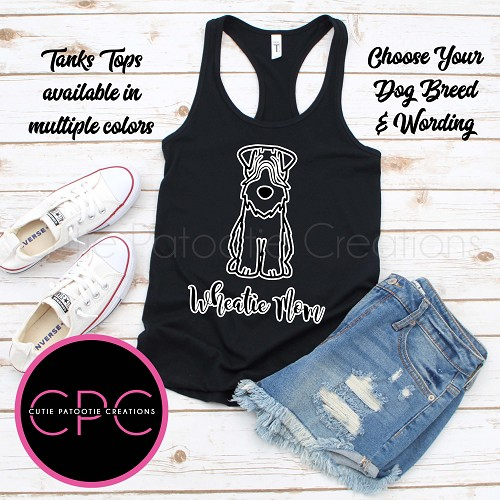 Soft Coated Wheaten Terrier Mom Mom Black Tank Top