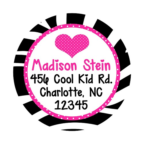 Zebra Print Address Labels or Gift Stickers